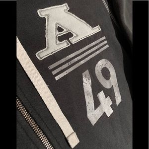 """Adidas """"Distressed"""" Zip Front Hoodie Small"""